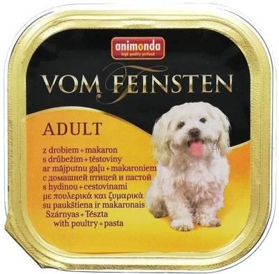 ANIMONDA Dog Vom Feinsten Adult skonis: paukštiena ir makaronai 150g