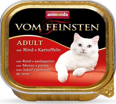 ANIMONDA Vom Feinsten Adult Cat skonis: su jautiena ir bulvėmis 100g