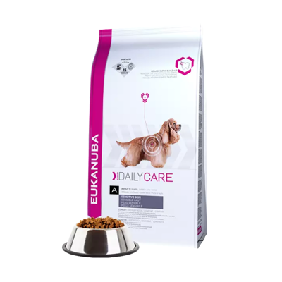 EUKANUBA Daily Care Adult Sensitive Skin 12kg