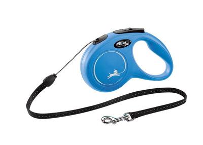 FLEXI Classic pavadėlis, max 12kg, 5m virvelinis - mėlyna