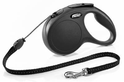 """FLEXI New Classic"" virvė, M dydis, 5 m, iki 20 kg, juoda"