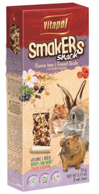 """VITAPOL Flakonai graužikams """"Smakers"""" miško vaisiai 2 vnt."""
